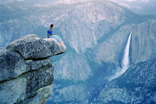 """If you're not living on the edge, you're taking up too much space!"" Anonymous"